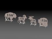 Animal Range Targets, 150