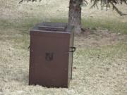 Custom Trash Can Shell -HillCrest Country Club