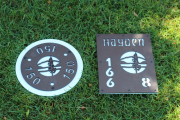 In-ground Yardage Plates (brown) Hayden CC
