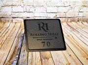 In-ground yardage plates -Rolling hills