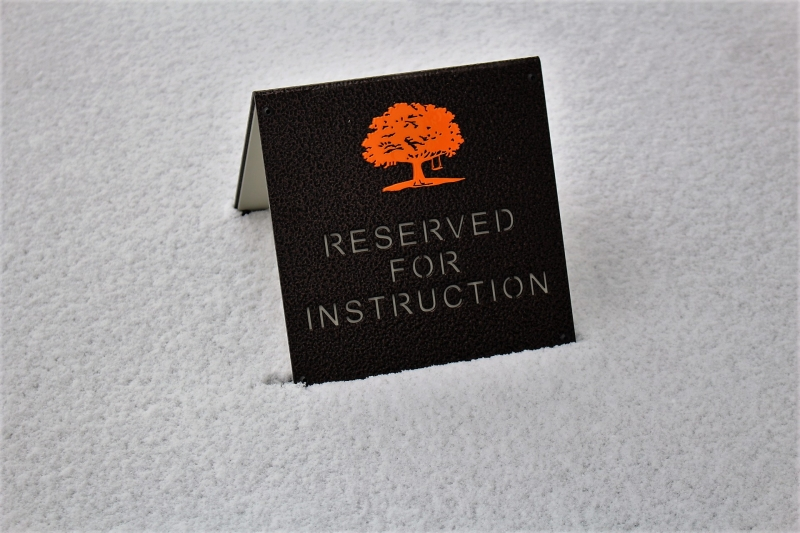 RESERVED FOR INSTRUCTION SIGNS -Carmel Valley