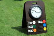 A-Frame Range Sign with Clock -Copper Canyon