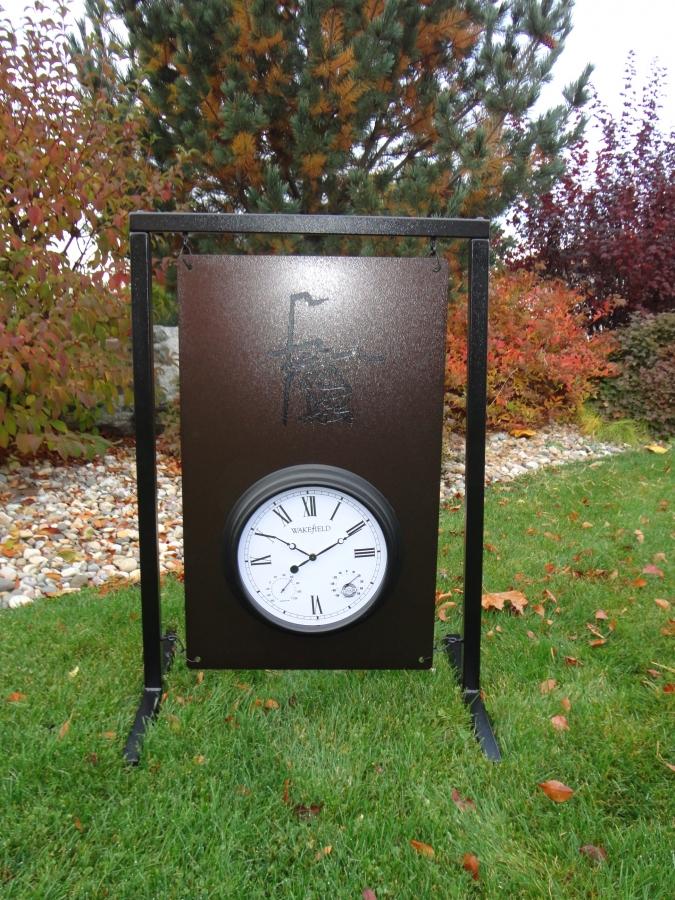 Range Layout Sign with Clock -Rancho La Quinta