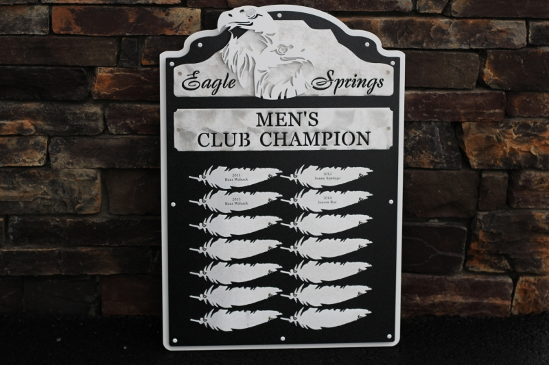 Golf Plaques -Eagle Springs