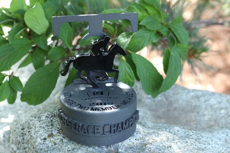 Horserace Trophy for golf tournament -Martis Camp