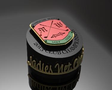 MANHATTAN WOODS -Custom Golf Trophy