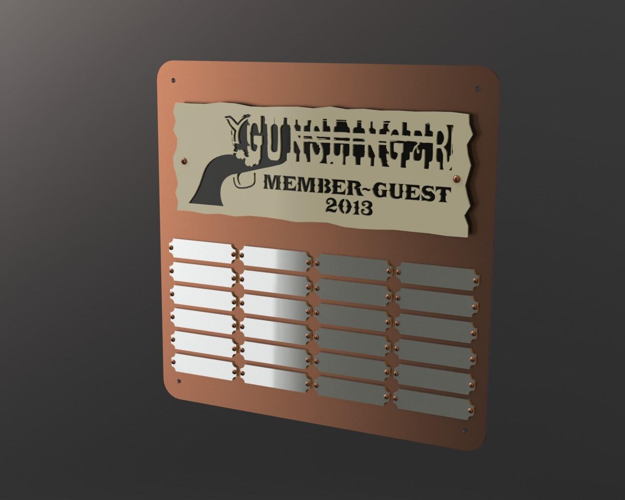 Gallery Gunslinger Plaque