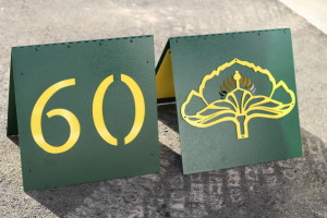 A-Frame Yardage Signs--Orchid Island GC