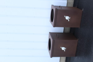 Garbage Can Shell Enclosures -Troon CC