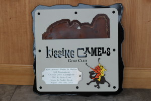 Golf Plaque -Kissing Camels -Camel Drivers