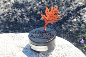 Golf Tournament Trophies Oakwood CC Leaf Trophies