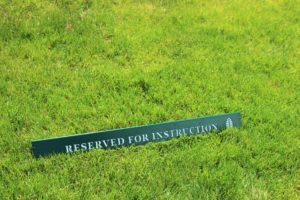 Practice Facility Signs -Pinewood