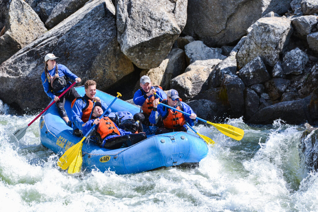 Fun rafting on the Payette River
