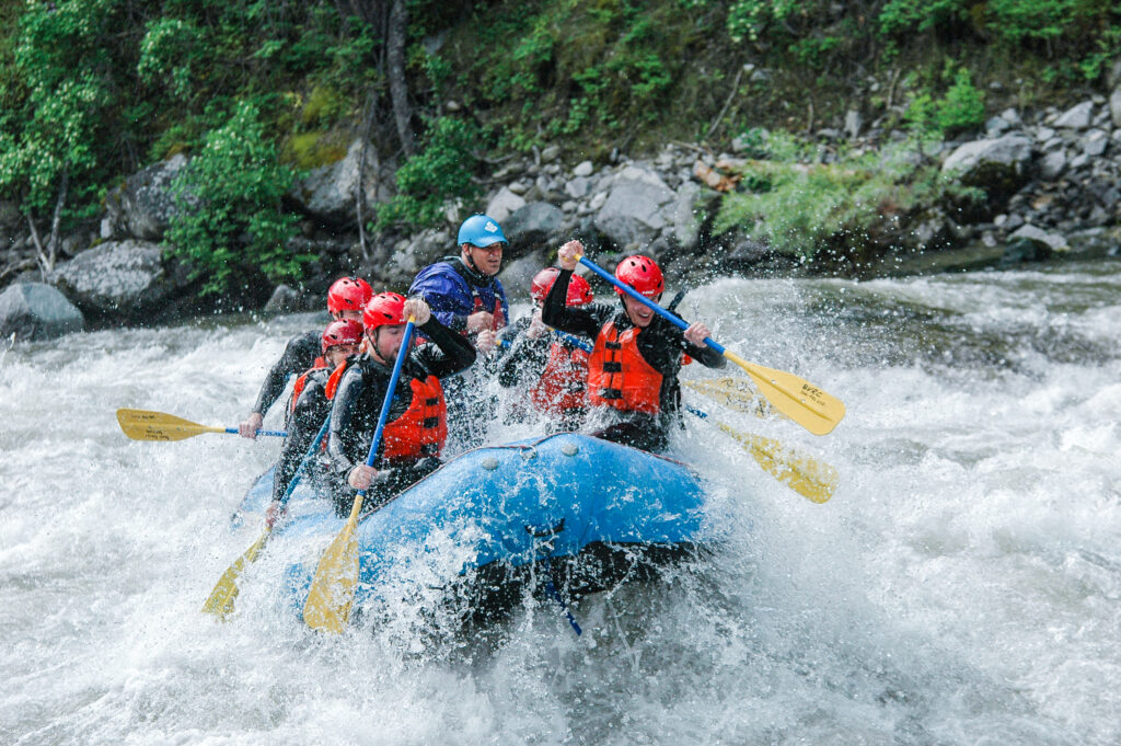 Full-day Whitewater Rafting trips on the Payette River
