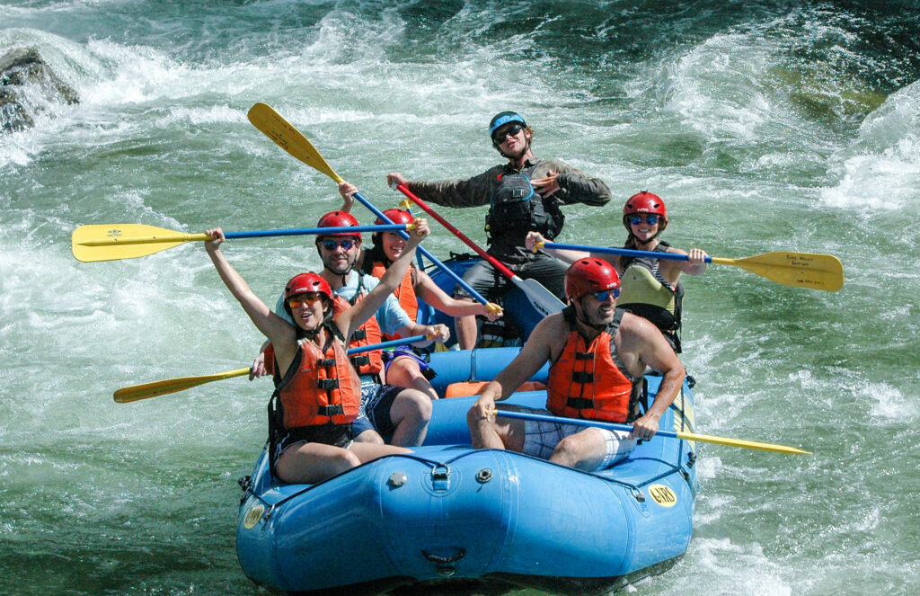 Whitewater rafting fun on the Payette River