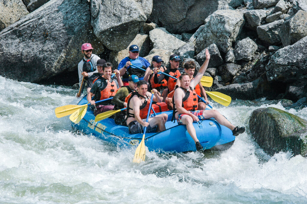 Half-day rafting on the Main Payette River