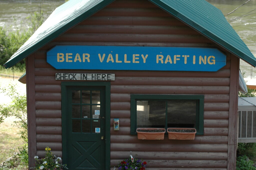 Front view of Bear Valley Rafting Check in building