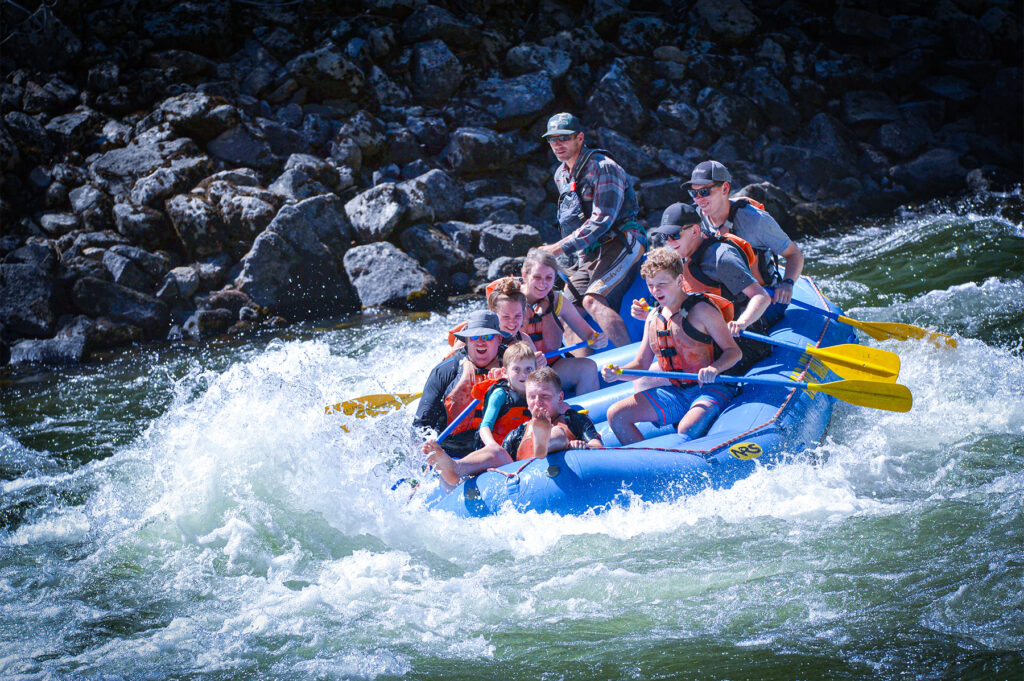 Whitewater rafting on the Payette River for the whole family