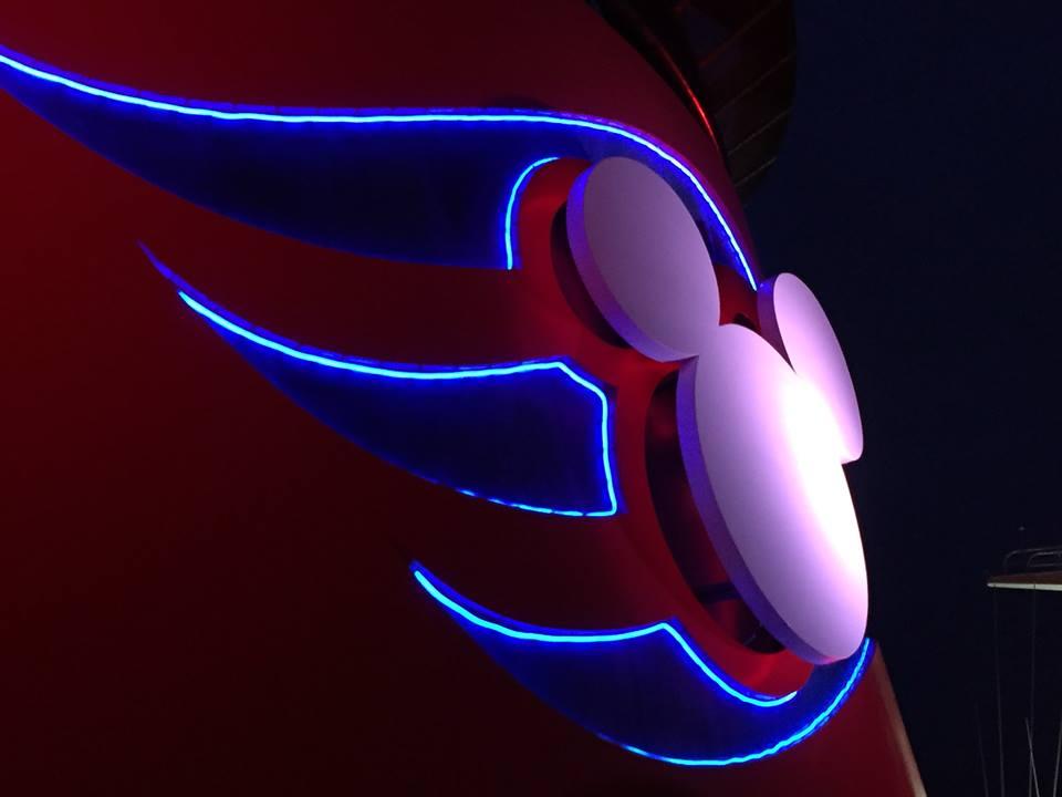Disney Cruise Stack at Night