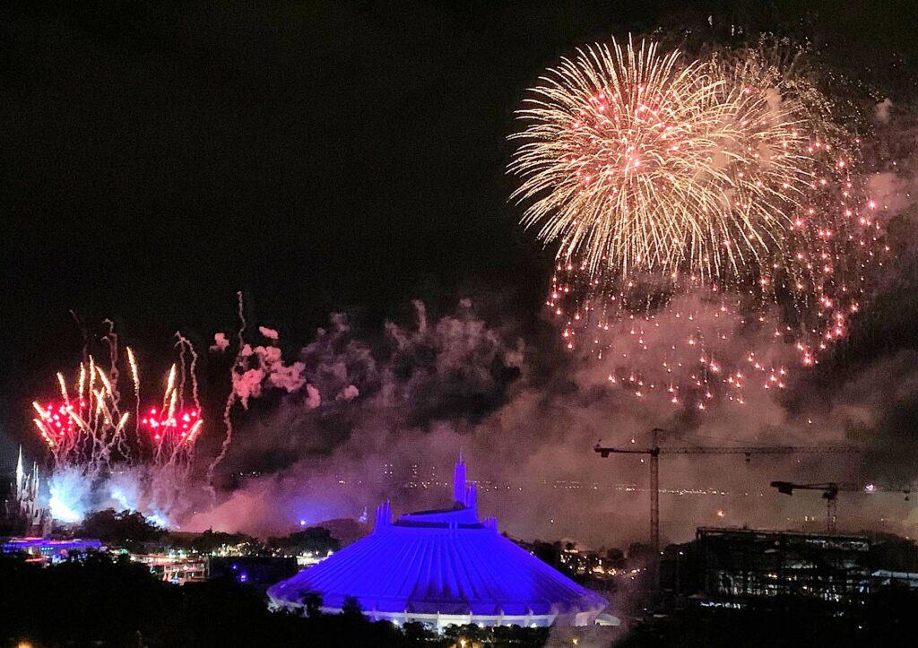 Fireworks over Magic Kingdom at Walt Disney World - Our 5 Favorite Comedic Marvel Moments