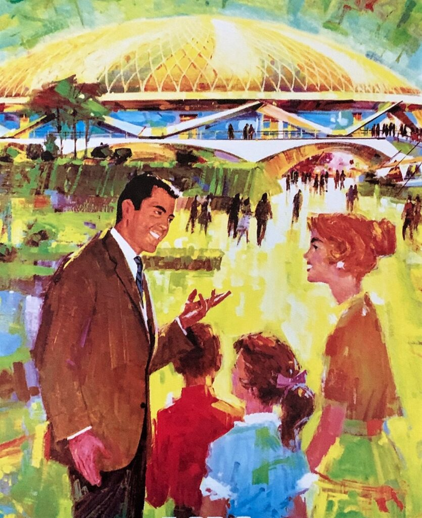 1964 World's Fair artwork - Disney and the 1964 World's Fair
