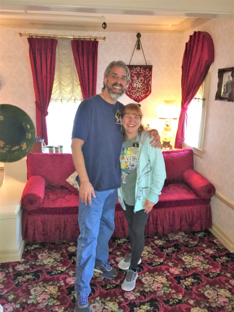 Tom and Michelle in Walt Disney's Apartment at Disneyland - Disney Parks Guided Tours