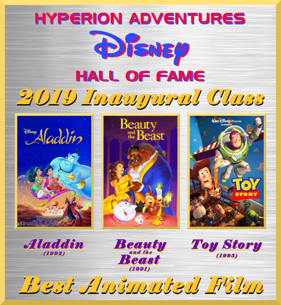 Best Animated Film - Hyperion Adventures Disney Hall of Fame - Inaugural Class