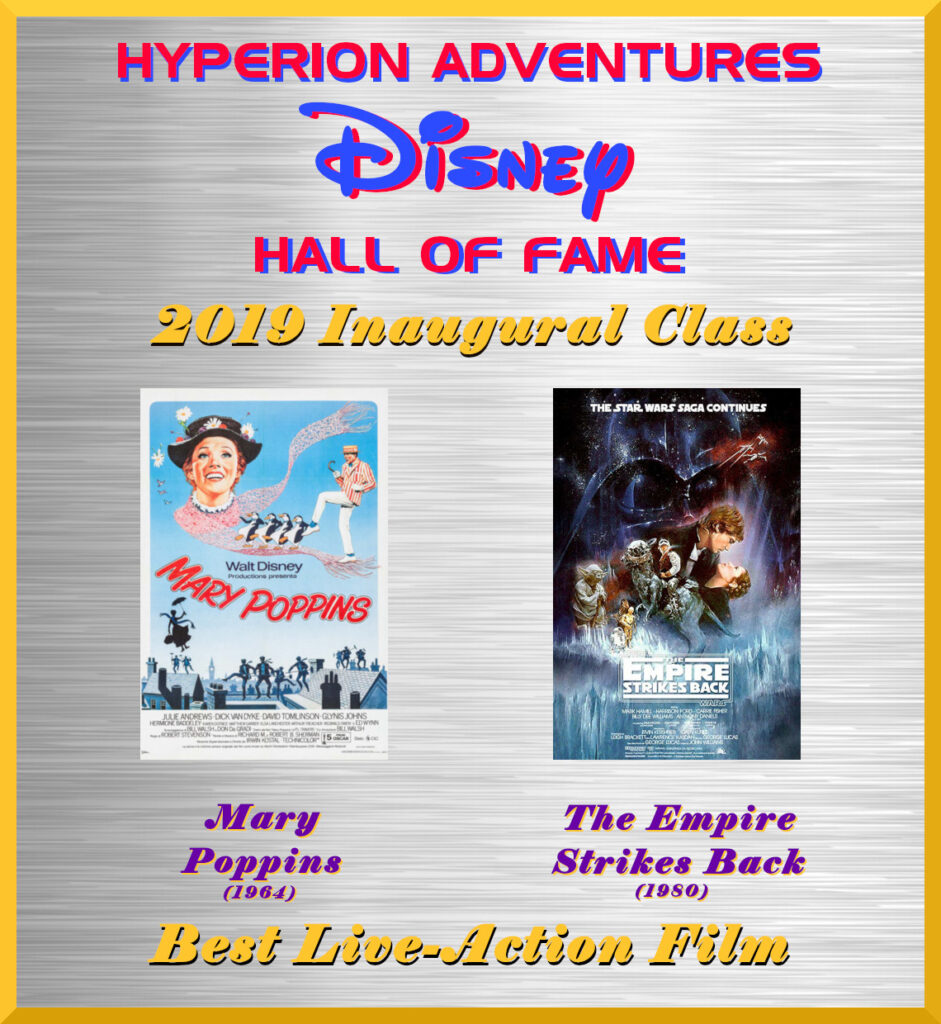 Best Live-Action Film - Hyperion Adventures Disney Hall of Fame - Inaugural Class