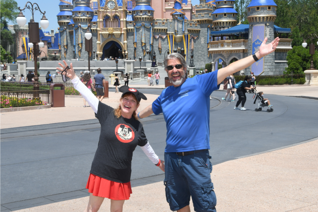 Tom and Michelle in front of Cinderella Castle at Magic Kingdom - Our April Walt Disney World Trip Recap - Part 2