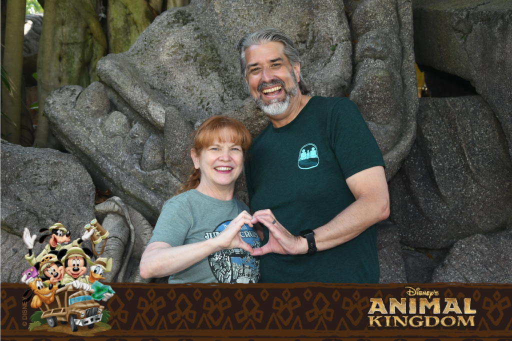 Tom and Michelle at Disney's Animal Kingdom - Our April Walt Disney World Trip Recap - Part 2