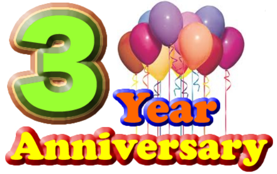 Our 3rd Anniversary Celebration