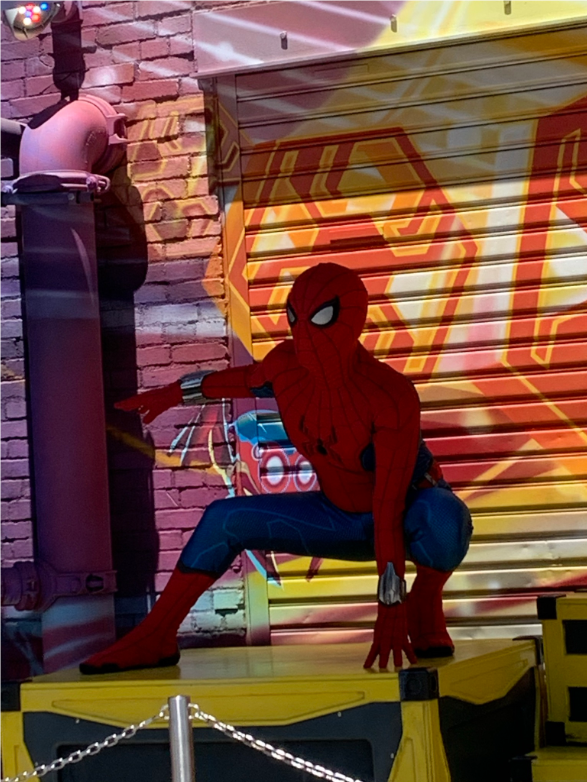 Spider Man at Avengers Campus - Our Avengers Campus Opening Day Recap