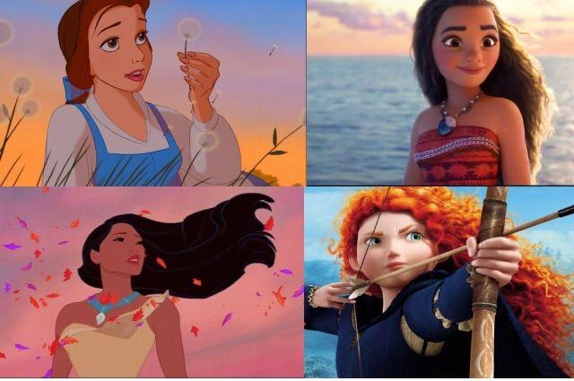 Belle, Moana, Pocahontas & Merida - 4 of the strongest Disney Princesses - Our 5 Favorite Disney Role Models
