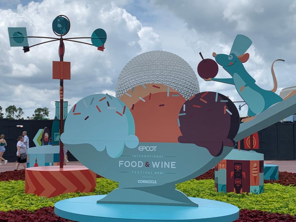 Epcot International Food & WIne Festival Artwork - July Disneyland & Walt Disney World Visit Recap