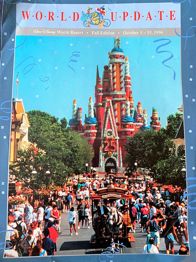 Disney Magazine cover from Walt Disney World's 25th Birthday - Countdown To Walt Disney World's 50th Birthday - Part 5 - Disney's Wonderful WORLD Of Color