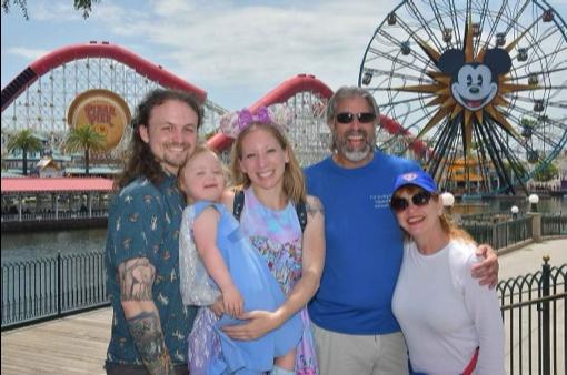 Tom & Michelle with Jonathan, Camille & Lorelai Cotton at Disney California Adventure Park - July Disneyland & Walt Disney World Visit Recap