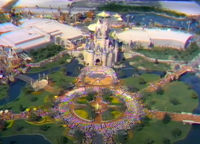 Aerial view of Magic Kingdom for the Opening Day Gala of Walt Disney World - Countdown To Walt Disney World's 50th Birthday - Part 6B - The Wonderful World Of Disney (cont.)