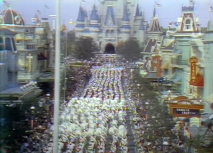 Walt Disney World's Opening Gala Marching Band on Main Street USA - Countdown To Walt Disney World's 50th Birthday - Part 6B - The Wonderful World Of Disney (cont.)
