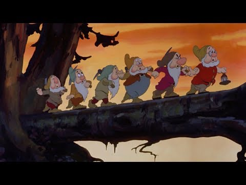 The Seven Dwarfs heading home from work - Our 5 Favorite Disney Character's Jobs
