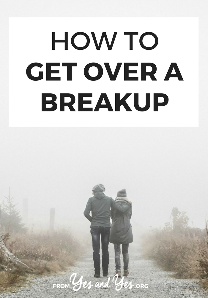 Want to get over a breakup? Heartache sucks. Click through for 8 tips that will help you get over them! // yesandyes.org