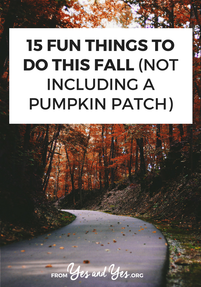Looking for things to do this Autumn? Look no further! This fun list of fall activities will fill up your calendar with tons of great ideas!  #fallfun #autumnactivities #fallbucketlist