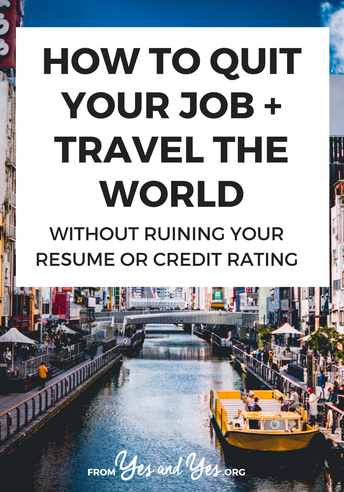 Want to quit your job and travel? Lots of people do! Click through for travel tips and job advice from someone who did it - many times! Full of great advice about working abroad, volunteering abroad, and budget travel!