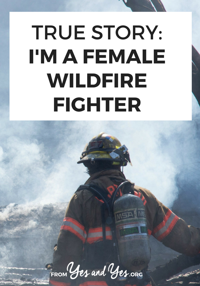 What would it be like to work as a hotshot, a wildfire fighter? It's an overwhelmingly male-dominated field; what would it be like to do it as a woman? Click through for one woman's story
