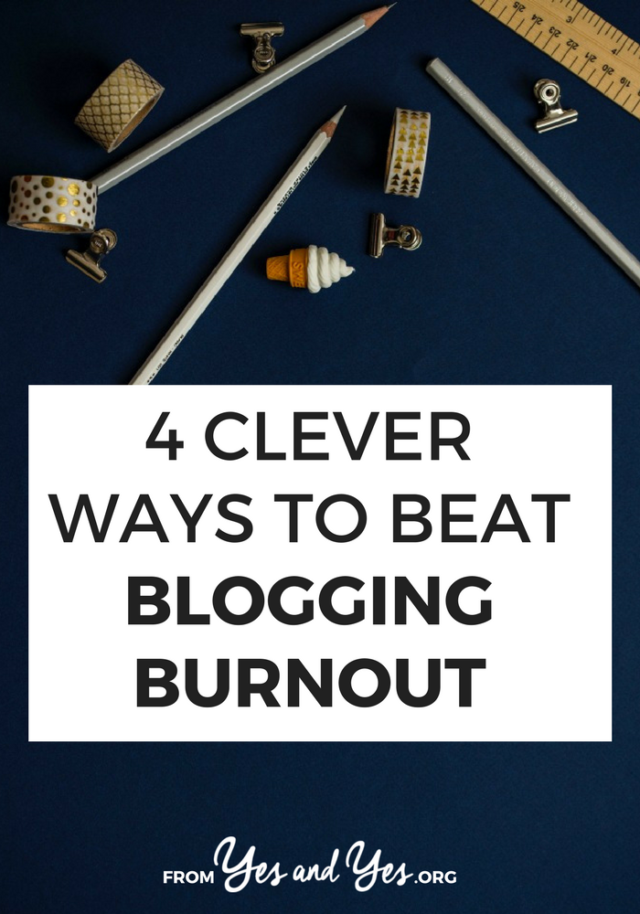 If you've ever struggled with blogging burnout, writer's block, overwhelm, or just too much work - this is for you! Click through for 4 ways to get back on track today!