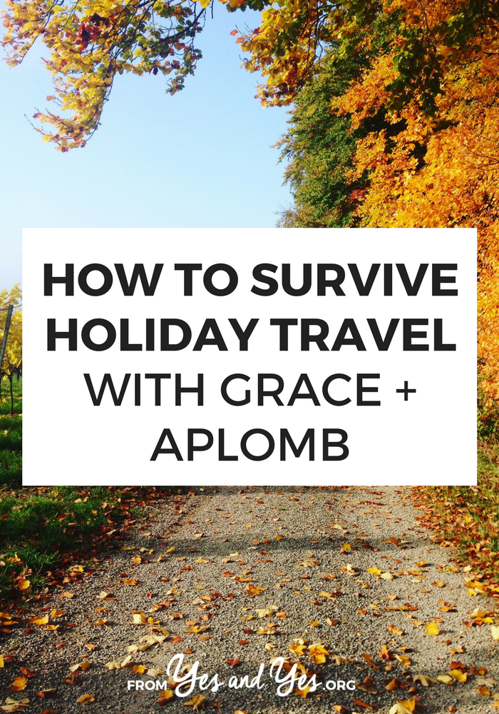 Trying to survive holiday travel? Traveling this Thanksgiving? These super helpful, doable travel tips will make your holiday season so much easier! #holidaytips #traveltips #holidaytravel #roadtriptips