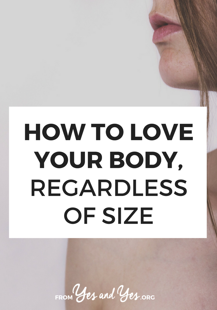 Want to love your body? Or try a bit of body positivity? You can practice self-love and self-care by loving the body you have, right now, now matter what size it is.