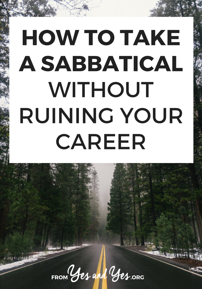 Want to take a sabbatical, but you're not sure where to start? Taking a break from work for a several months isn't just for professors! Click through and find out how one lawyer did it! >> yesandyes.org
