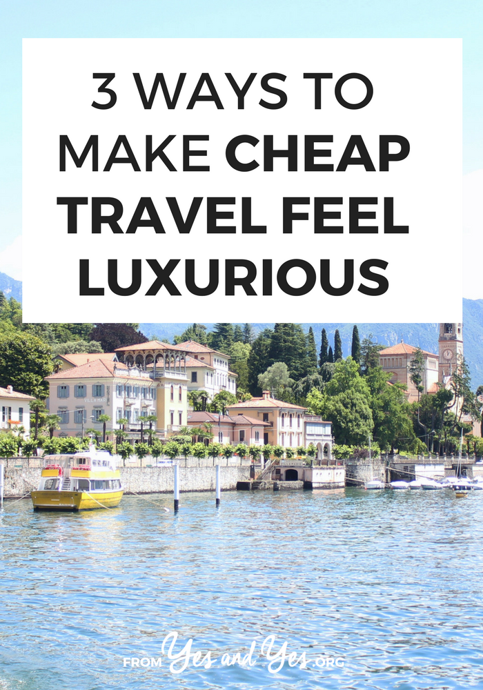 Cheap travel doesn't have to be awful! There are ways to make cheap travel feel luxurious with just a few things to bring or do to make cheap travel better. Like, uh, the entire 'travel sized' section of Sephora.com. Click through for more ideas! #cheaptravel #budgettravel #traveltips