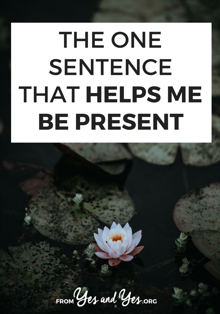 Want to be more present in your life? Pay more attention to your life and get out of your head? This one sentence will help! #mindfulness #meditation #presence #selfdevelopment #selfhelp #centering
