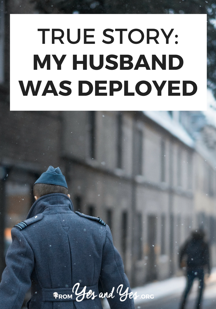 What's life like when your husband is deployed? How do you stay healthy and sane as a military spouse? Click through for one woman's story.